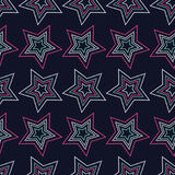 Seamless background with decorative stars. Dots texture. Royalty Free Stock Photo