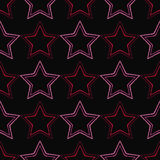 Seamless background with decorative stars. Dotted stars. Stock Photo
