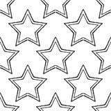 Seamless background with decorative stars. Dotted stars. Stock Images