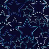 Seamless background with decorative stars. Dotted stars. Vector illustration Stock Images