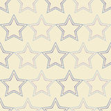 Seamless background with decorative stars. Dotted stars. Royalty Free Stock Photo