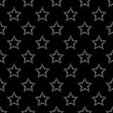 Seamless background with decorative stars. Dotted stars. Stock Photos