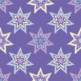 Seamless background with decorative stars. Textile rapport Stock Image