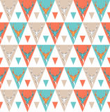 Seamless background with deer heads. ethnic ornament Royalty Free Stock Images