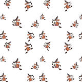 Seamless  background with  deers Stock Image