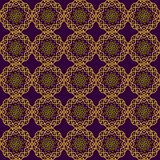 Seamless background with delicate yellow openwork flowers on a dark Burgundy background stock illustration