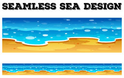 Seamless background design with blue ocean Stock Image