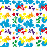Seamless background design with colorful splash Royalty Free Stock Photos
