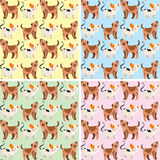 Seamless background design with cute dogs and cats royalty free illustration