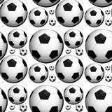 Seamless background design with footballs Stock Images