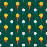 Seamless background design with golf ball detail sport game equipment hobby competition vector illustration Royalty Free Stock Photo
