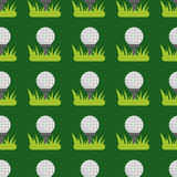 Seamless background design with golf ball detail sport game equipment hobby competition vector illustration Stock Photos