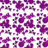 Seamless background design with purple splash Stock Photos