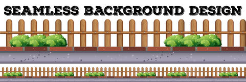 Seamless background design with wooden fence Royalty Free Stock Photo