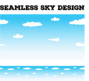 Seamless background desing with sky and clouds Royalty Free Stock Images