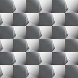 Seamless background of the details of the cubic form of gray col. Seamless abstract texture of gray squares that simulate three-dimensional image Vector Illustration