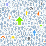 Seamless background of different arrows Royalty Free Stock Images