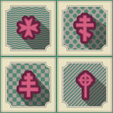 Seamless background with different crosses Royalty Free Stock Images