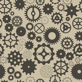 Seamless background with different gear wheels. Stock Photography