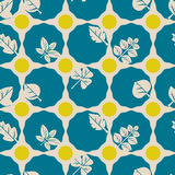 Seamless background with different leaves Royalty Free Stock Images
