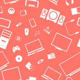 Seamless background from digital devices, vector illustration. Royalty Free Stock Photo