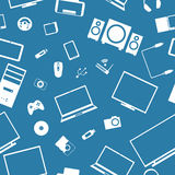 Seamless background from digital devices, vector illustration. Royalty Free Stock Photos