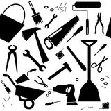 Seamless background with DIY or home repair tools Stock Photography