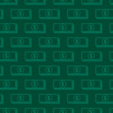 Seamless background with dollar signs. money concept Royalty Free Stock Photo