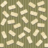 Seamless background with dominoes. And strips Stock Image