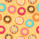 Seamless background with donuts Royalty Free Stock Image