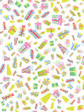 Seamless background of doodle gift box Royalty Free Stock Image