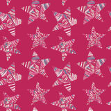 Seamless background with doodle star. Royalty Free Stock Photography