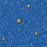 Seamless background with dots and stars. Seamless pattern with chaotic dots and stars. Vector texture Royalty Free Stock Images
