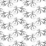 Pattern of the sketches of a bicycle Stock Photography