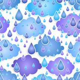 Seamless background  with  drops of a rain Stock Photos