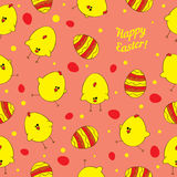 Seamless  background with Easter chickens. Royalty Free Stock Image