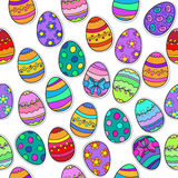 Seamless background  Easter Egg pattern. Vector Illustration  background pattern in vector Royalty Free Stock Images