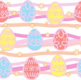 Seamless background from Easter eggs Royalty Free Stock Photos