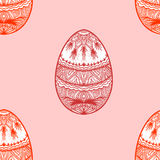 Seamless background with easter eggs Royalty Free Stock Photo