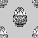 Seamless background with easter eggs Stock Photo