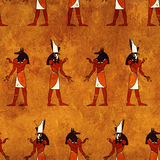 Seamless background with Egyptian gods images Royalty Free Stock Photos