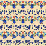 Seamless  background. Egyptian ornament. Royalty Free Stock Photos