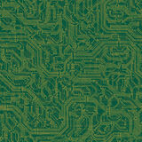 Seamless background of electrical circuit board. Vector seamless background of electrical circuit of computer board device (motherboards Stock Photos