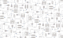 Seamless Background Of Electrical Scheme Stock Vector - Illustration ...