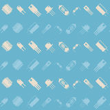 Seamless background with electronic components icons Stock Image