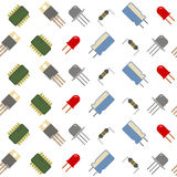 Seamless background with electronic components icons Stock Images