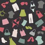 Seamless background elements of clothing Royalty Free Stock Photos