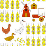 Seamless background with elements of farming. Royalty Free Stock Photo