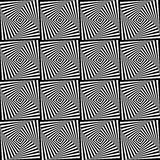 Seamless  background with elements of the squares optical Stock Photo