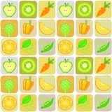 Seamless background from elements of vegetables an Royalty Free Stock Image